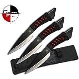 3pc BIG 10 in Throwing Knife Set TK269-310