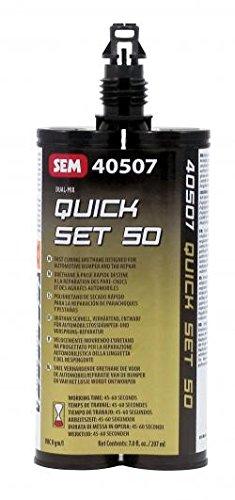 SEM PRODUCTS INC   QUICK SET 50/BLK ADHESIVE 7OZ   SE40507