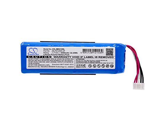 Price comparison product image Cameron Sino 6000mAh Li-Polymer Battery For JBL Charge 2+, Charge Plus, fits JBL MLP912995-2P