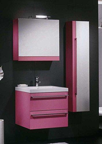 mobile arredo bagno cm 60 sospeso moderno specchio contenitore ... - Arredo Bagno Specchio Contenitore