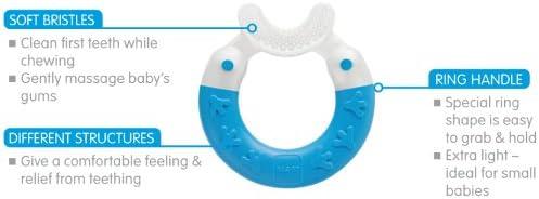 Boudin de dentition MAM 3m jaune sans BPA
