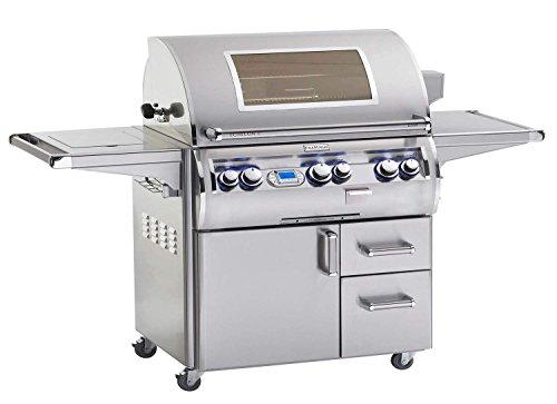 Fire Magic E790s-4L1N-62-W Echelon Diamond E790s Natural Gas Grill On Cart Single Side Burner, One Infrared Burner Magic View (62 Fire Magic Grills)