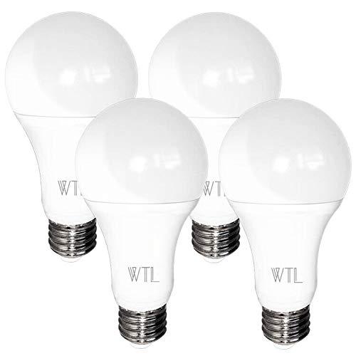 A21 LED Light Bulb, 150-200W Equivalent 20W 2200LM High Lumens and 3000K Soft White Non-dimmable, E26 Medium Base Bulb for Living Room, 4 Packs by - Light A21 130v Bulb