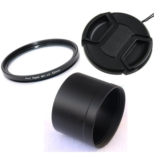 Fotasy Essential Accessory Kit for Panasonic LX-7 & Leica D-LUX 6 Camera, Includes 52MM Pro1D SMC UV Filter, Filter Adapter Tube, Snap-on Lens Cap