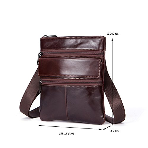 Shoulder Boyfriend Holiday Present cuero Luxury Tablet Gift Mens First Hiking Soft Leather Working Cowhide Zhuhaitf Birthday Crossbody Bag UOpExqvp