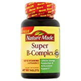 Nature Made Super B-Complex Dietary Supplement Tablets, 160 count (5 Pack)
