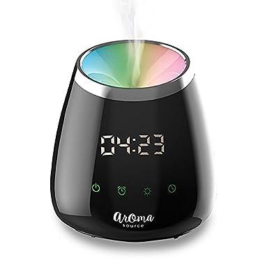SpaRoom AromaTime Digital Alarm Clock Essential Oil Diffuser, 150mL