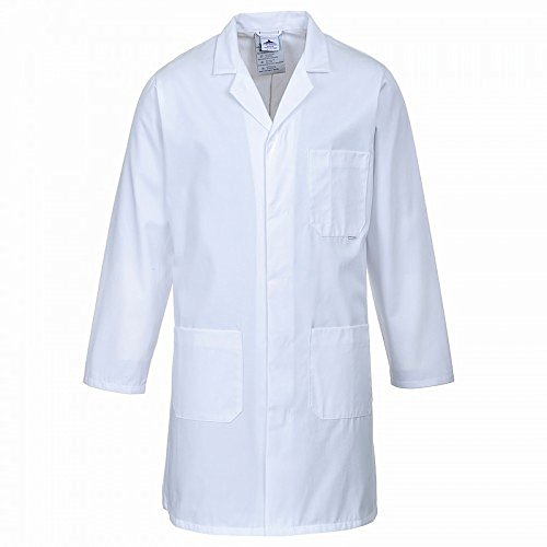Portwest Standard Workwear Lab Coat (Medical Health) (5XL (60-64 Inch Chest)) (White)