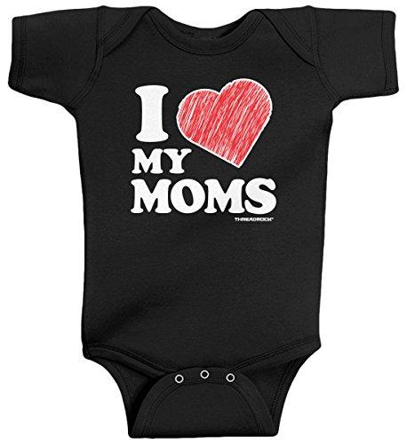 Threadrock Baby Boys' I Love My Moms Infant Bodysuit 6 Months -