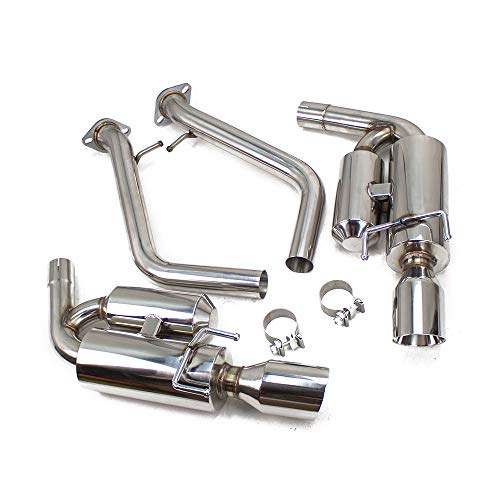 Rev9(CB-024) FlowMAXX Axle-Back Exhaust Kit, Stainless Steel, 4