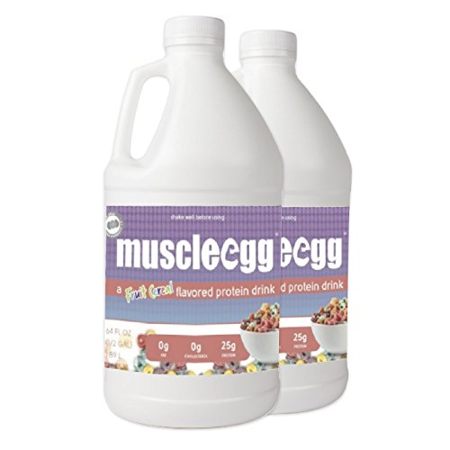 MuscleEgg Fruit Cereal Liquid Egg Whites Protein – 2 half-gallons