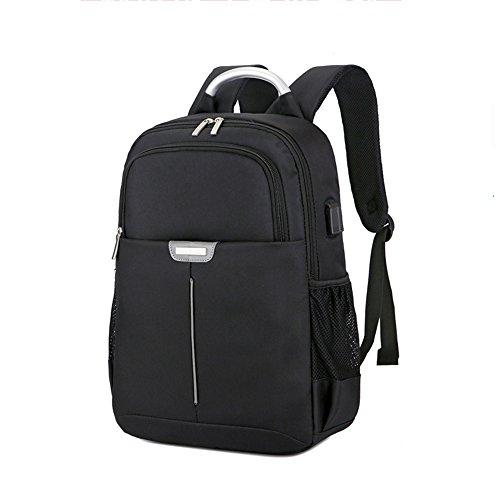 Nclon Business Rucksack Rucksäcke,Männer Female Laptop-rucksack Usb-ladeanschluss Multifunktion Kratzfester Strapazierfähiger Wasserdichte Dünn Geräuscharmer Outdoor 15 Inch-Lila schwarz