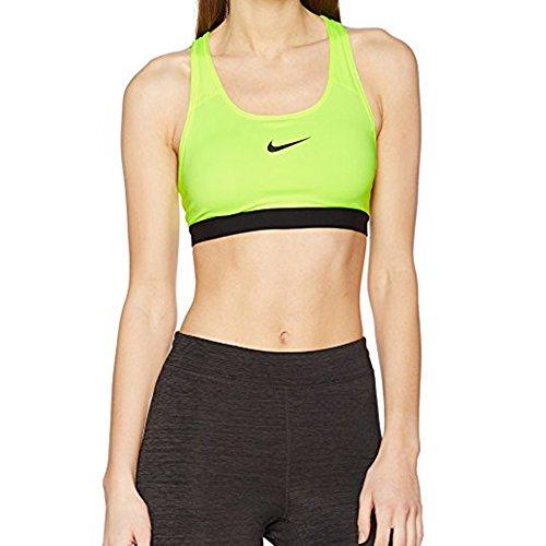 Nike Pro Classic Padded Women's Sports Bra (Volt/Black, XS)