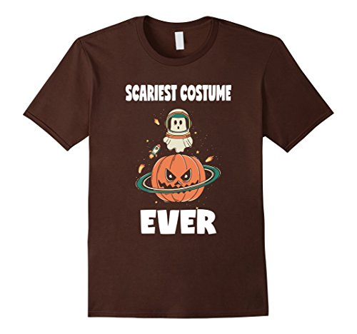 Mens Scariest Costume Ever Pumpkin Halloween Ghost Space T-Shirt Large (Space Ghost Halloween Costume)