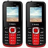 I Kall K99 set of 2 Dual Sim Mobiles (Red & Red)