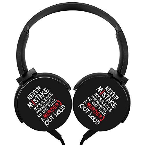 Murder Call Headphones 3D Printed Over-Ear Lightweight Headphone for Kids Men Woman