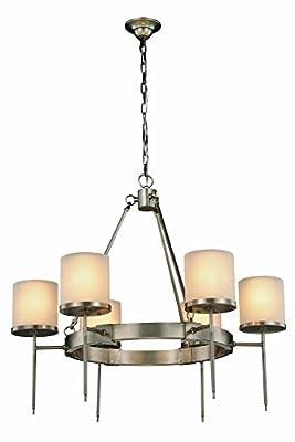 Elegant Lighting 1504D35VN Bradford Collection Pendant Lamp D35 H32 6-Light