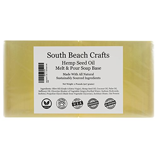 Olive Oil - 2 Lbs Melt and Pour Soap Base - South Beach Crafts (Base Olive)
