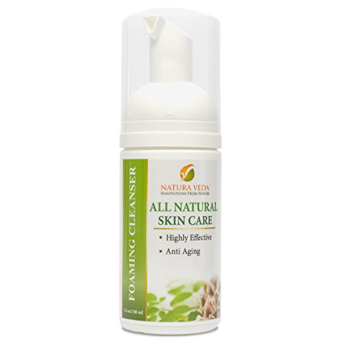 Natura Veda - All Natural Foaming Cleanser - Anti Aging - Hypo-Allergenic - 3.4 oz/100 ml