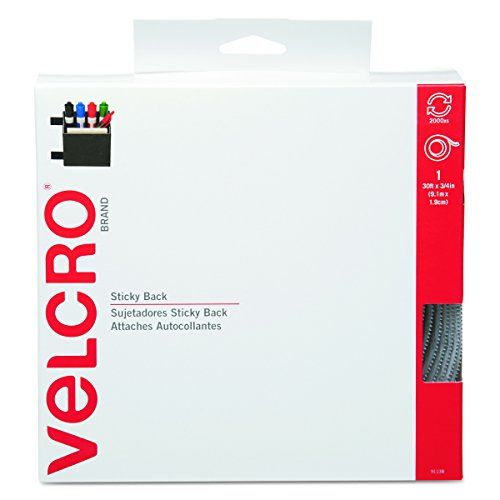 VELCRO Brand - Sticky Back Hook & Loop Fasteners in Dispenser, 3/4 x 30 ft Roll, (Hook Loop Fastener Tape Rolls)