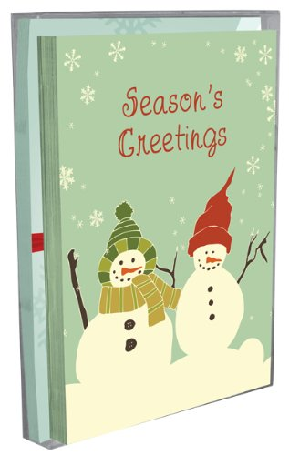 Tree-Free Greetings Season's Greetings Holiday Boxed Cards, 5 x 7 Inches, 12 Cards and Envelopes per Set, Multi-Color (91156)