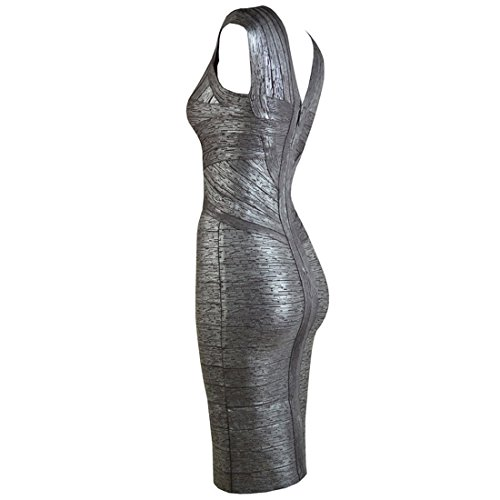 HLBCBG - Vestido - Sin mangas - para mujer Violett - Grau