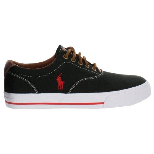 Polo by Ralph Lauren Men's Vaughn Canvas Lace-Up Fashion Sneaker Black 8.5 M US