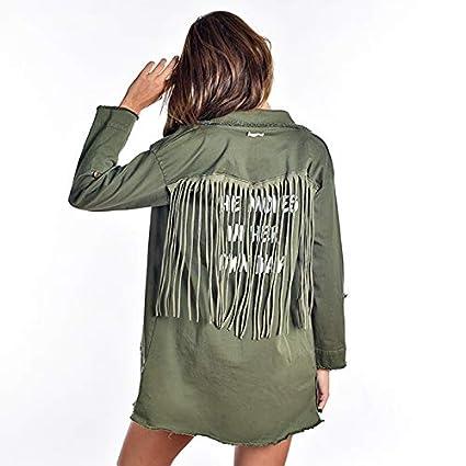 Arica Brand - Chaqueta Flecos Her Verde: Amazon.es: Ropa y ...