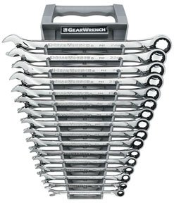 GearWrench 85099 16 Piece Metric XL Ratcheting Combination Wrench Set (Torque Wrench Gearwrench Xl)