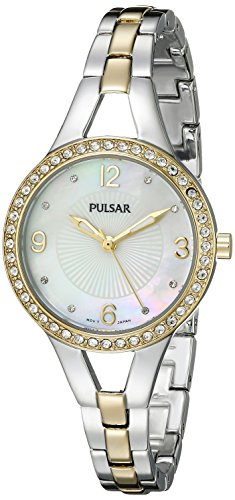 Pulsar Digital Analog - Pulsar Women's PH8120 Analog Display Analog Quartz Two Tone Watch