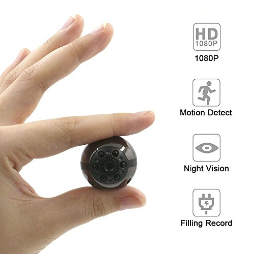 (Mini Camera Ztcolife HD Portable Small Camera with Motion Activated and 6 LED Infrared Night Vision 12 Million Pixels Home Security Camera for Indoor and Outdoor Use Home Security)