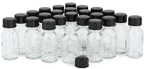 Vivaplex, 24, Clear, 15 ml Glass Bottles, with Lids