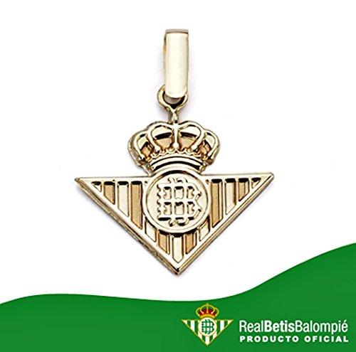 Pendentif Real Betis bouclier loi or 18k lisser [AA0656] - Modèle: 50-013-L