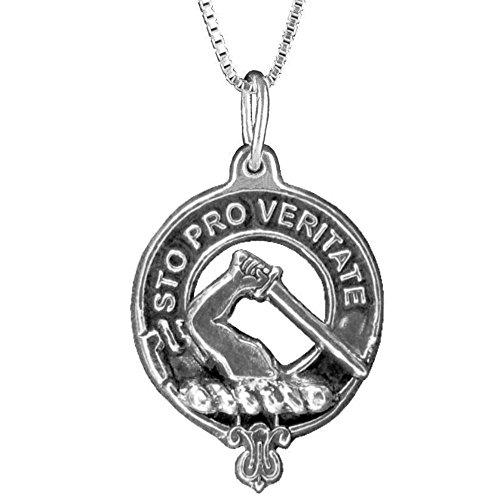 Guthrie Clan Crest Scottish Pendant ~ Sterling Silver ()
