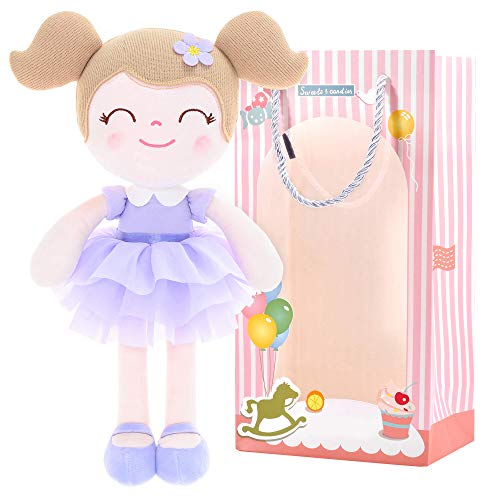 "Gloveleya Baby Doll Girl Gifts Dolls Plush Toy Lilac Princess Purple with Gift Box 13"""