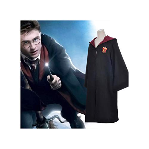 SEEK-YST Action Figure for Kids Harri Potter Cloak Gryffindor Ravenclaw Slytherin Hufflepuff Magic School Cosplay Costumes Cloaks Robe ()