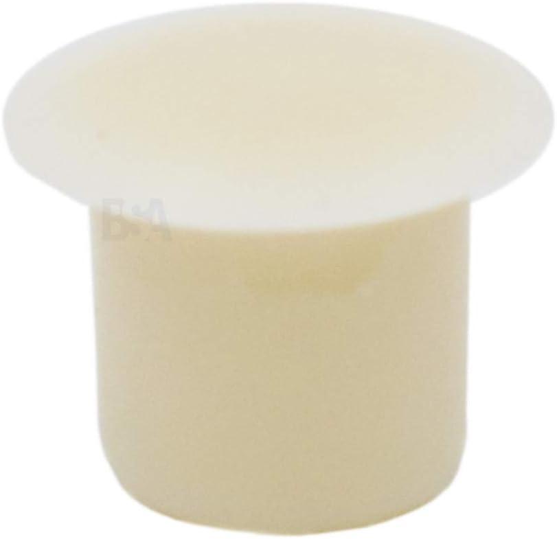 IROX MTP060709CI Lot de 10 bouchons cache-trou 6 mm Blanc cr/ème blanc plastique Profondeur trou 7 mm T/ête 9 mm Bouchon cache trou pour meubles 6 mm