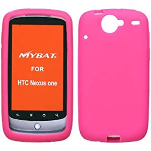 Soft Silicone Skin Case(Hot Pink) For HTC Nexus One(Google)