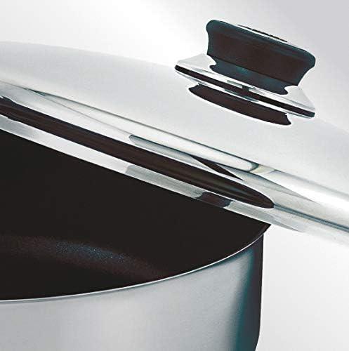 Beka 12030034 Polo Cuit Vapeur 3 Corps + Couvercle Verre en acier Inoxydable 24 cm