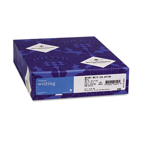 Strathmore 25% Cotton (Strathmore - 25% Cotton Business Stationery, 24 lbs., 8-1/2 x 11, Ivory, 500/Ream 300-029 (DMi RM)