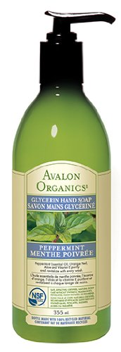Avalon Organics Glycerin Hand Soap, Peppermint, 12 Ounce (Pack of 3) (Dishwashing Liquid 12 Oz compare prices)