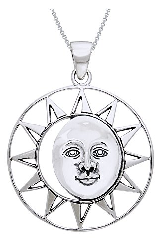 oon Eclipse Goddess Sterling Silver Pendant on 18