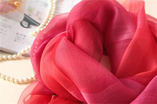 Jiahe Elegante 31 Ricamata 8 Ricamo Regalo Di Festa Sciarpa 4 e Condizionata Pollici Sfumata Mamma Seta Estate 74 Della Scialle Aria qrpqI
