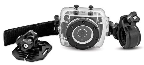 Sharper Image HD Action Cam SVC400 w/ Waterproof Case & Mounting Kit - 720P Digital Video