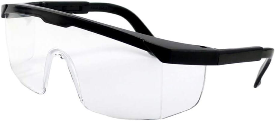 Hemoton Gafas Protectoras de Seguridad Gafas de Cristal Transparente Protección para Los Ojos Gafas a Prueba de Polvo Gafas Quirúrgicas Médicas