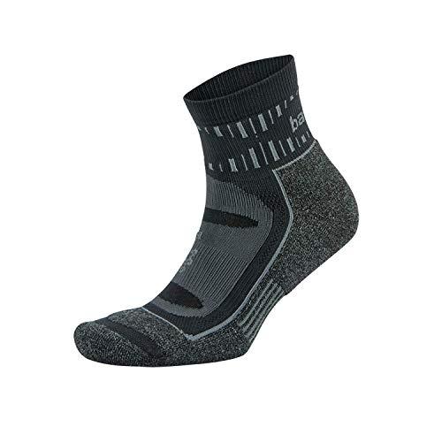 Balega Blister Resist Quarter Socks For Men and Women (1 Pair), Black, X-Large