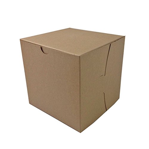 Black Cat Avenue 6'' x 6'' x 6'' Kraft Bakery Cake Boxes Non-Window Paperboard Gift Boxes, 5 Count by Black Cat Avenue