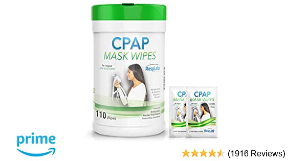 RespLabs Medical CPAP Mask Cleaning Wipes - [110 Pack Plus 2 Travel Wipes]  - Biodegradable,