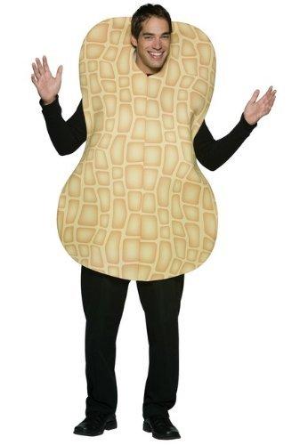 Peanut Adult Costumes (Rasta Imposta Peanut, Brown, One Size)