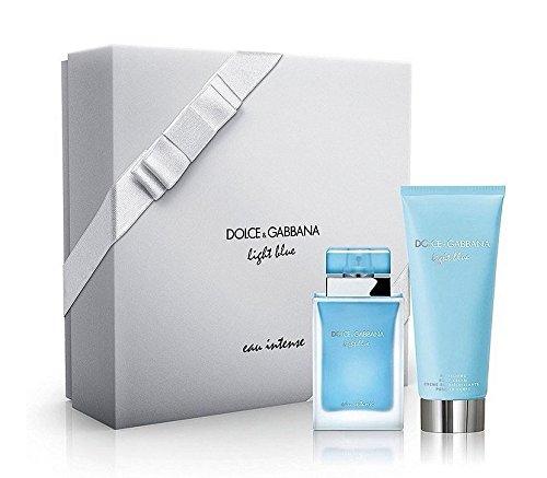 Gabbana Body Cream (Dolce & Gabbana Light Blue Intense For Women 1.6 Oz EDP Spray + 3.3 oz Body Cream (2 Piece Set))
